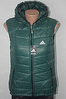 Женская спортивная жилетка  безрукавка в стиле ADIDAS на замке, фото 1