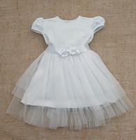 """Платье для девочки """"Нежность"""" с коротким рукавом ТМ Бетис, интерлок"""