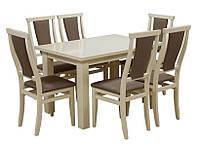 Комплект стол и стулья Барри  (Лак Слоновая кость) раскладной