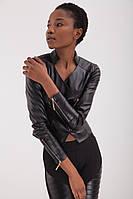 """Стильная женская укороченная кожаная куртка """"Roxette"""", фото 1"""
