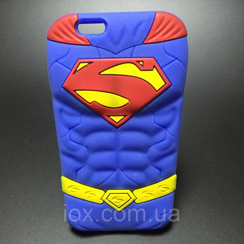 Мягкий силиконовый чехол Супермен для Iphone 5\5s
