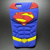Мягкий силиконовый чехол Супермен для Iphone 5\5s, фото 1