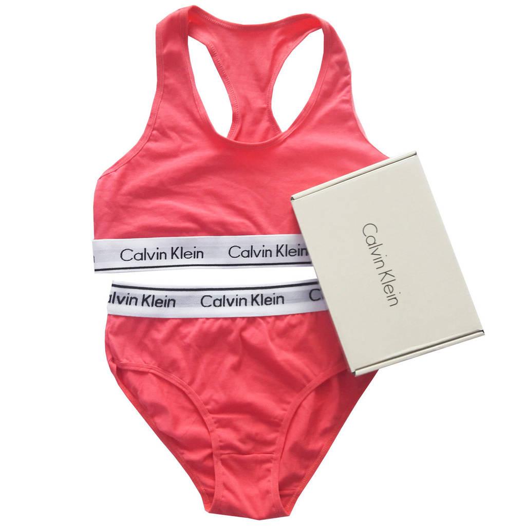 Женский комплект Calvin Klein малиновый