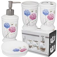 Набор аксессуаров для ванной комнаты 'Цветочные шарики'