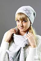 Вязаный комплект (шапка+шарф)