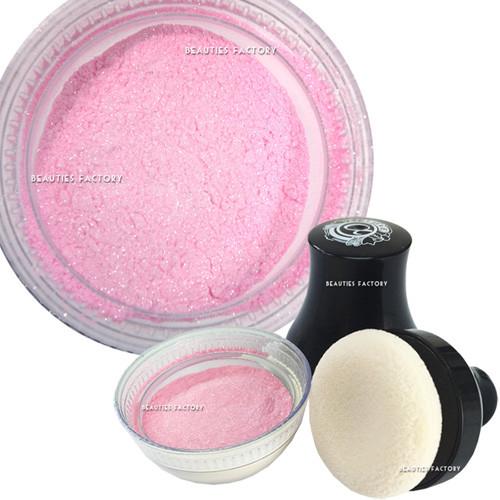 Мерцающая пудра для тела с пуфом Love Alpha Smooth Glitter Body Powder Pink