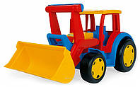 Большой игрушечный трактор Гигант с ковшом Wader