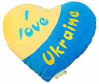 Подушка-сердце Я люблю Украину, 32 см Тигрес ПД-0121