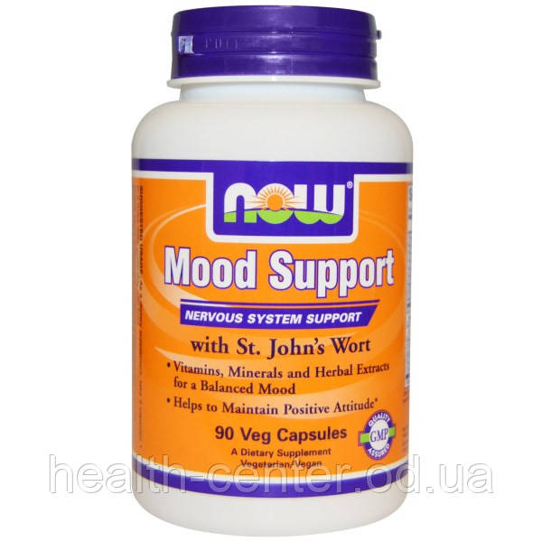 Mood Support (хорошее настроение)  90 капс  лечение депрессии, антидепрессанты Now Foods