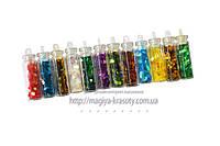 Декор паеки-соты в бутылочках,12 цветов по  4 гр