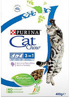 Cat Chow Feline 3in1 Формула с тройным действием, 400 гр