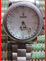 """Мужские наручные часы """"Рекорд Стандарт"""" с автоподзаводом, 23 камня. Производство Россия. Белый циферблат."""