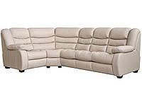 """Новый угловой диван с реклайнером """"Манхетен"""", бежевый"""