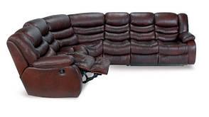 Кожаный угловой диван реклайнер Манхэттен, диван реклайнер, мягкий диван, мебель из кожи, диван, раскладной, фото 2
