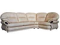 Современный угловой диван с реклайнером - Орландо, бежевый