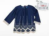 Кофта для девочки из тонкого джинса ТМ МОНЕ р-р 122, фото 3