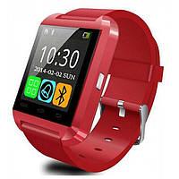 Умные часы. Смарт часы Smart Watch U8 для Android и iOS. Красный. 3 цвета