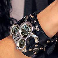 """Мужские наручные часы с кожаным браслетом """"Рок навсегда!"""""""