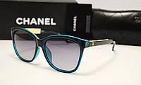 Женские солнцезащитные очки Chanel 1642 зелёно черный цвет
