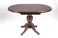 Стол деревянный обеденный Анжелика 90(+38)х90х78,5(орех светлый, орех темный, венге, натуральный, натуральный)