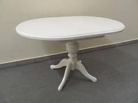 Фабричный стол для гостиной Анжелика 90(+38)х90х78,5 (белый)