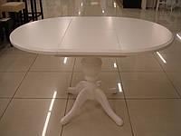 Фабричный стол для гостиной Анжелика 90(+38)х90х78,5 (ваниль, бежевый)
