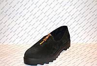 Туфли женские стильные замшевые без каблука