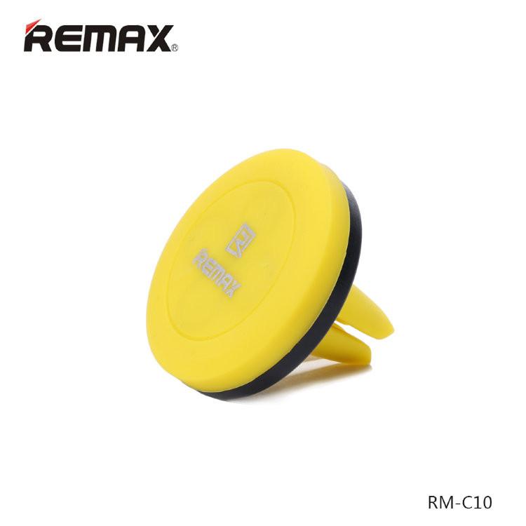 Держатель в автомобиль Remax RM-C10 Yellow Magnetic на вентеляционную решетку