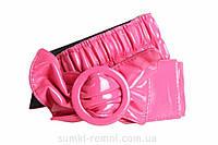 Розовый пояс с бантом