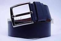 """Ремень мужской  кожзам, джинс темно-синий """"Remen"""" LM-638"""