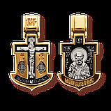 Православный крест серебряный Распятие Христово. Святитель Николай 8060, фото 6