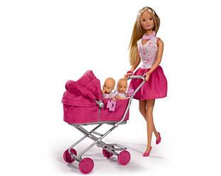 Кукольный набор с коляской и близнецами, Steffi Love Sunshine Twins