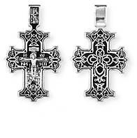 Крест Православный серебряный Распятие Христово 8191