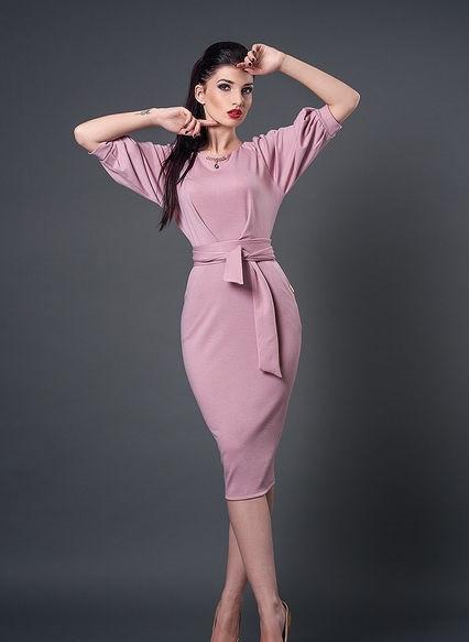 Женское платье миди (3 цвета)