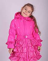 Пальто демисезонное для девочки 104-122
