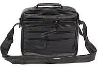 Удобная мужская кожаная сумка art. 7003 черного цвета