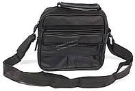 Удобная мужская кожаная сумка art. 8018 черного цвета