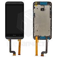 Дисплей для мобильных телефонов HTC Desire 601, Desire 601 Dual SIM, черный, с сенсорным экраном, с передней п