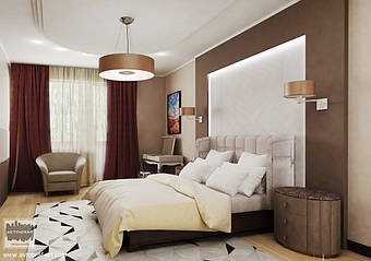 Interior design Bedroom  using Moody colours
