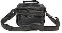 Удобная мужская кожаная сумка art. 7023 черного цвета
