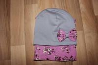 Детский набор шапка с шарфиком
