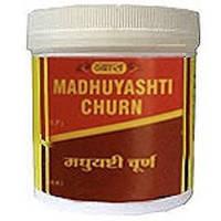 Смягчающее, тонизирующее, отхаркивающее средство. Мадхуяшти Чурна / Madhuyashti Churna, Vyas / 100 гр