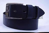 "Ремень мужской кожа Masco джинс, пряжа бренд темно-синий ""Remen"" LM-638"