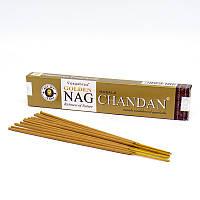 Golden Nag Chandan Vijayshree (Сандал) благовония на бамбуковой основе/ 15 гр.-15 палочек
