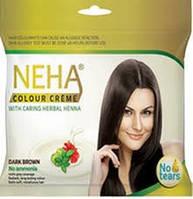Крем-краска для волос - без амония/  Neha dark brown/15ml+15 ml