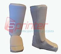 Защита ног для единоборств (от колена до пальцев). Материал: хлопок с эластиком, поролон.
