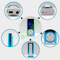 MP3 плеер + картридер дисплей LCD microSD USB Мп3 синий