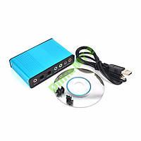 USB Звуковая карта 5.1 аудио внешняя оптический