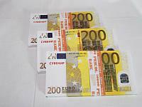 Сувенирная пачка денег 200 евро, фото 1
