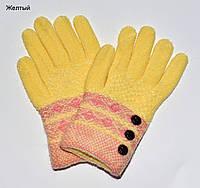 Перчатки Пуговки размер М. Подросток. Желтые, фото 1